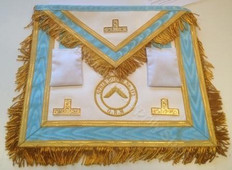 Centennial Trim Officers Apron  with  Fringe & Lodge Badge