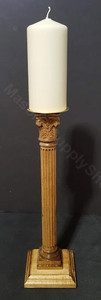 Candle Holder 13 inch tall  Scrolled