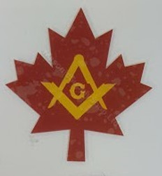 Car  Window decal (inside) Maple Leaf  2 pack