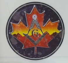 Car  Window decal (inside) Maple Leaf  Round   2 pack