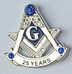 Masonic Anniversary  25 Year Lapel Pin