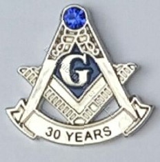 Masonic Anniversary  30 Year Lapel Pin