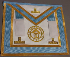 Centennial Worshipful Master, Past Master Apron with Gold Lodge Badge