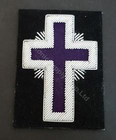 Knight Templars  Badge   Purple  Large