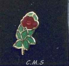 Rose Croix lapel pin