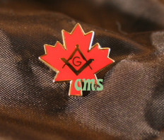 Maple Leaf and Square & Compass Lapel Pin