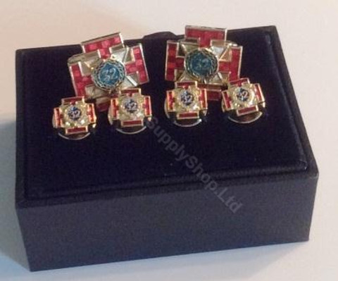 Scottish Rite 32rd Degree Cufflink and Shirt Stud set