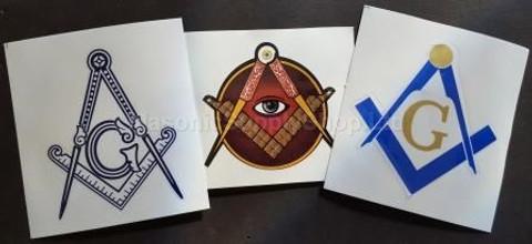 3 pack Masonic Decals
