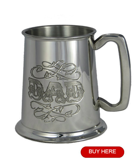 Pewter tankard for dad