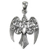 Sterling Silver Small Morrigan Raven Pendant
