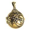 Bronze Celtic Swirl with Hidden Pentacle Locket Pendant