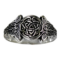 Silver Sidhe Celtic Knot Fairy Triskele Ring