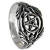Silver Hermetic Guardian Angel Pentacle Ring