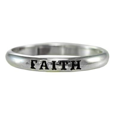 Sterling Silver Faith Spiritual Inspirational Ring