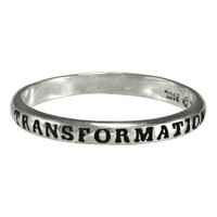 Sterling Silver In Transformation Spiritual Inspirational Ring