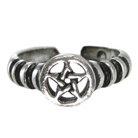 Sterling Silver Pentacle Toe Ring