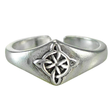 Sterling Silver Celtic Quaternary Knot Toe Ring