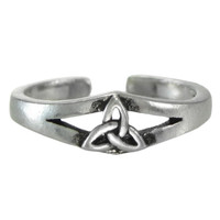 Sterling Silver Celtic Knot Triquetra Toe Ring