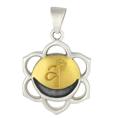 Svadhisthana The Sacral Chakra Pendant Sterling Silver Gold Plated  Jewelry
