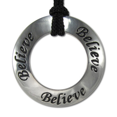 Believe  Inspirational Motivational Saying Pendant Necklace Jewelry