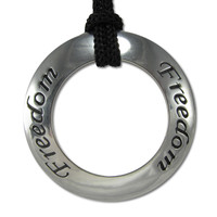 Freedom Motivational Saying Pendant Necklace