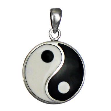 Sterling Silver Yin Yang Pendant