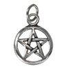 Sterling Silver Tiny Open Pentacle Pentagram Wiccan Pagan Charm Jewelry