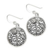 Sterling Silver Sun and Moon Tree of Life Filigree Earrings Jewelry