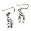 Sterling Silver Reiki Sei Hei Ki Symbol Earrings for Balance Jewelry
