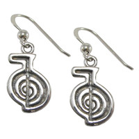 Sterling Silver Reiki Cho Ku Rei Power Symbol Earrings Jewelry