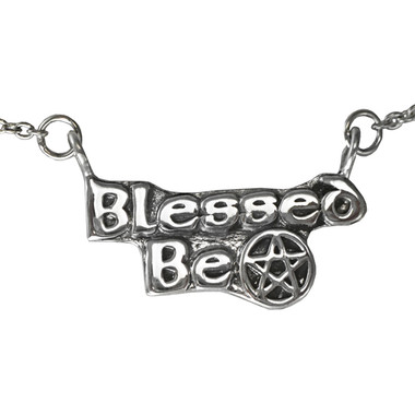 Blessed Be Sterling Silver Pentagram Necklace