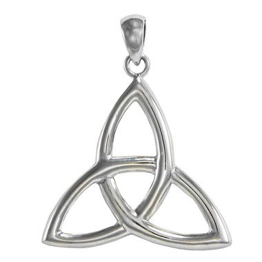 Sterling Silver Celtic Triquetra Trinity Knot Pendant