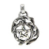Sterling Silver Small Tree Branch Pentacle of Nature Pagan Druid Pendant Jewelry