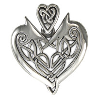Silver Celtic Heart Pendant Love Talisman Jewelry Valentine Gift For Her