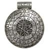 Large Sterling Silver Pentacle Pentagram Magic Circle Pagan Pendant for men or women Jewelry