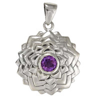 Sahasrara The Crown Chakra Pendant - Sterling Silver Gold Plated Jewelry