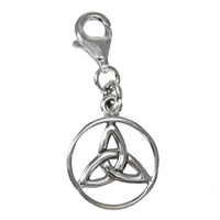Sterling Silver Celtic Trinity Knot Celtic Knot Clip Charm Wiccan Pendant Jewelry