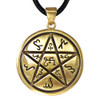 Bronze Earth Pentacle Pendant Alchemical Theban Hermetic Jewelry