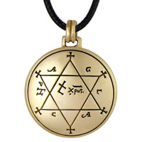 Bronze Talisman to Make Garments Auspicious Key of Solomon Pentacle Pendant Jewelry
