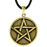 Bronze Solid Pentacle Pendant