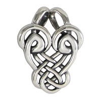 Sterling Silver Abstract Dancing Birds Celtic Love Knot Pendant Jewelry