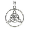 Sterling Silver Celtic Triquetra with Small Pentacle Pendant