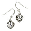 Sterling Silver Celtic Love Knot Heart Filigree Earrings