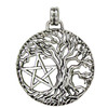 Tree of Life Yggdrasil Pentacle Pentagram Pendant Wiccan Pagan Jewelry
