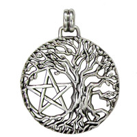Tree of Life Yggdrasil Pentacle Pentagram Pendant Wiccan Pagan Jewelry