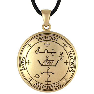 Bronze Sigil Of Archangel Michael Enochian Talisman Amulet Angel Jewelry
