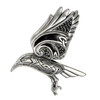 Sterling Silver Raven Flying Celtic Triquetra Knot Pendant