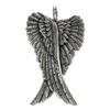 Large Sterling Silver Folded Angel Wings Pendant