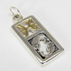 Sterling Silver Pisces the Fish Zodiac Sign Pendant Charm with Vermeil