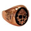 Large Copper Odin Valknut Signet Ring